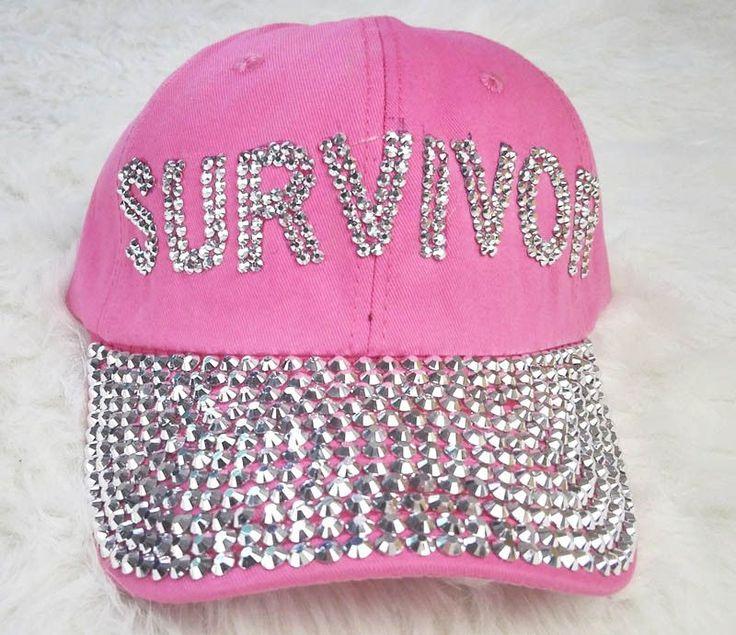 New Survuvor Letters Diamond Point denim Blue pink caps women baseball cap girls Hat rhinestone hat For Men Teens