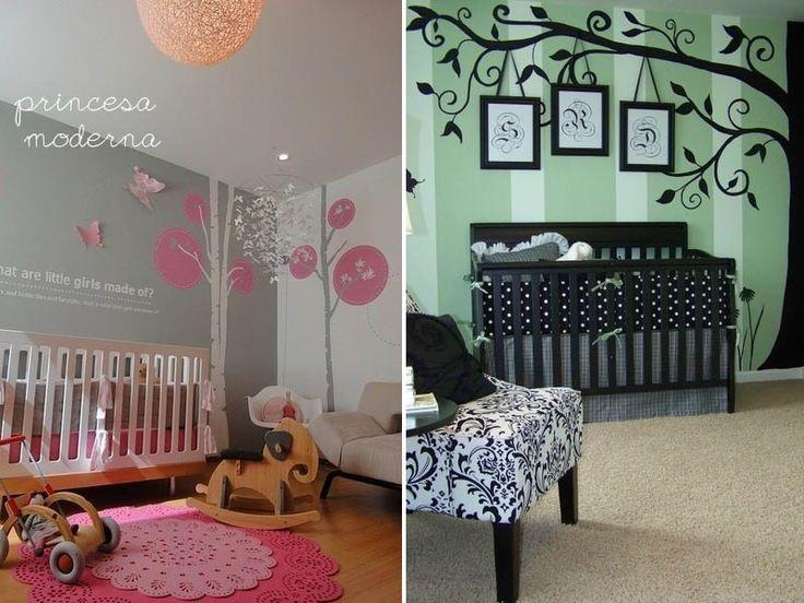 Usando o adesivo de parede na decoração no quarto dos bebês dádivademãe