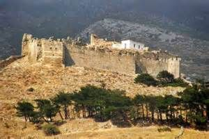 "The castle, ""Castello Rosso"" (Red Castle) of Karystos, Evia, Greece .."