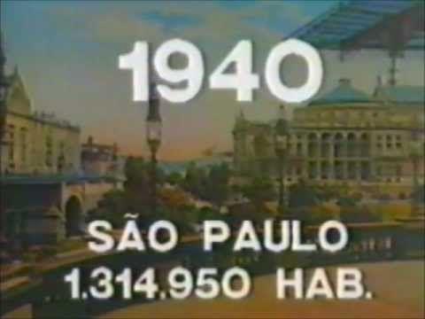 Explosão do crescimento demográfico da cidade de São Paulo