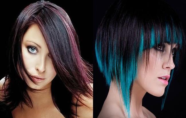 Картинки по запросу зеленые пряди волос