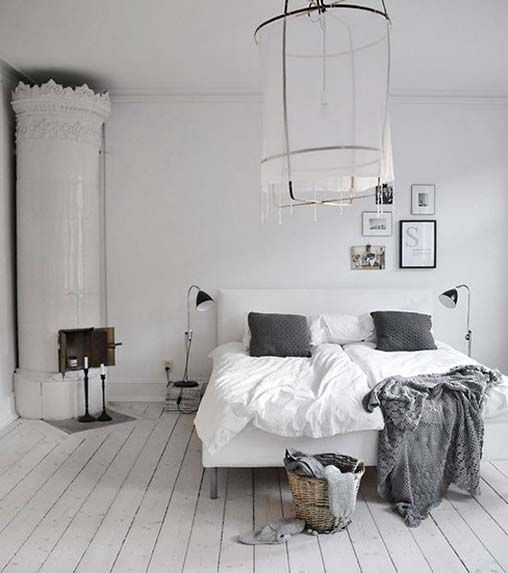 Clean and Muted | EyeSwoon - Love that bed frame.