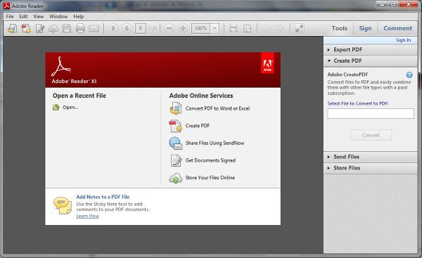 Adobe Reader 11 Free Download For Windows | Freeware Latest