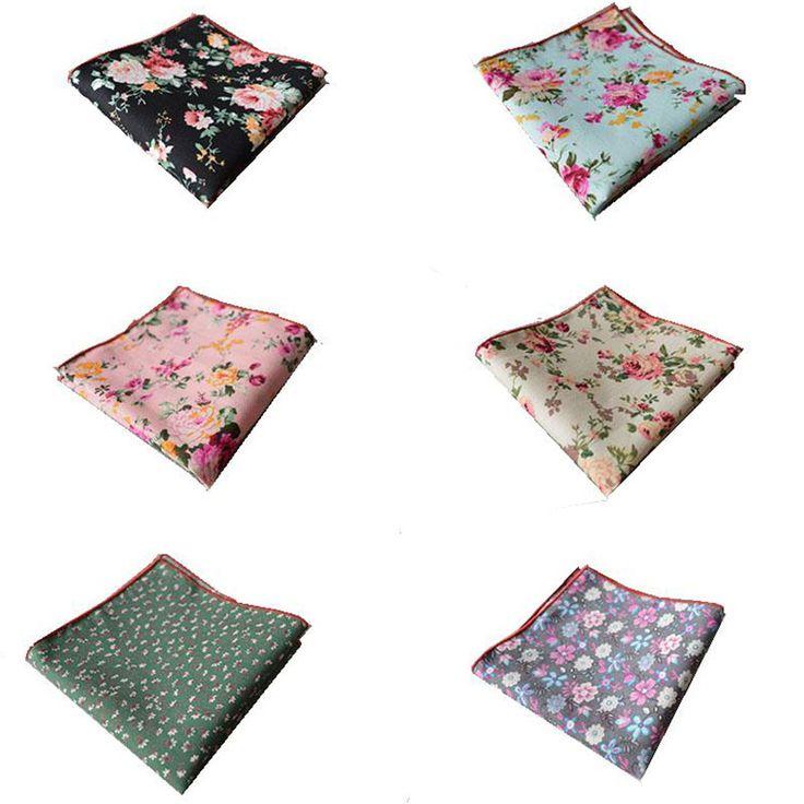 Mens Cotton Pocket Square - Floral Garden by VIDA VIDA HYp23