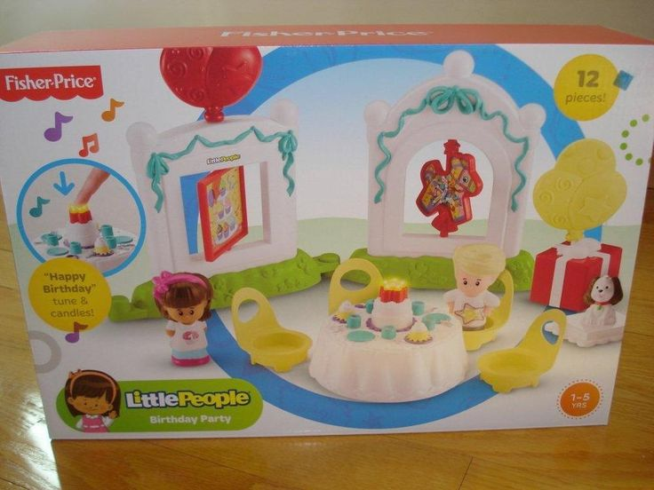 """Fisher Price Little People  BIRTHDAY PARTY """"Happy Birthday"""" Tune & Candles #FisherPrice"""
