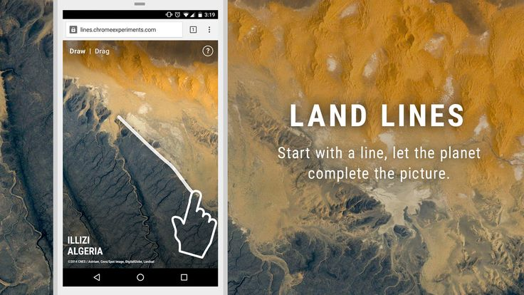 Land Lines is an experiment that lets you explore real Google Earth satellite imagery through gesture.