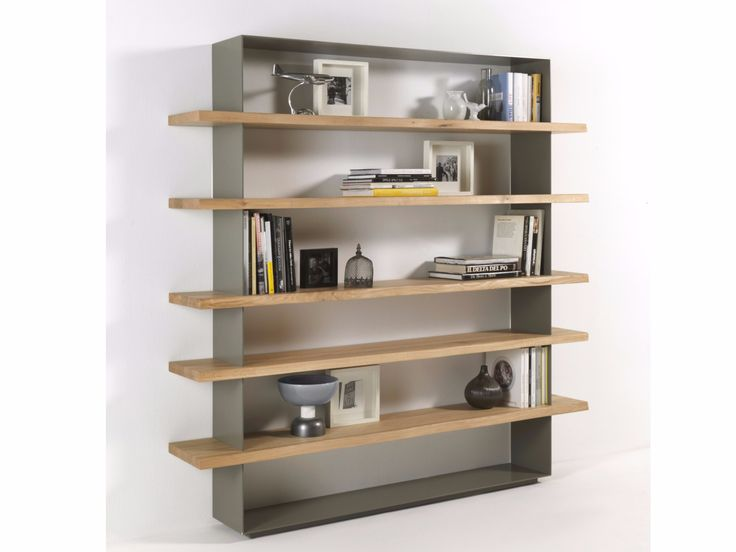 open wooden bookcase crazy by riva design maurizio riva davide riva - Wooden Bookcases