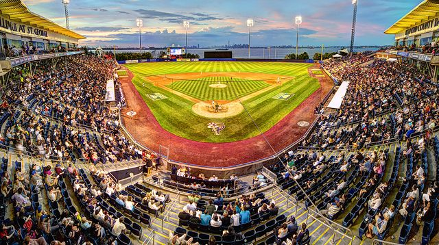 Catch a baseball game at The Staten Island Yankees stadium. Enjoy a beautiful view of the city and fireworks at select night games!