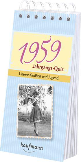 Jahrgangs-Quiz 1959 – Interessantes Geschenk zum 60. Geburtstag
