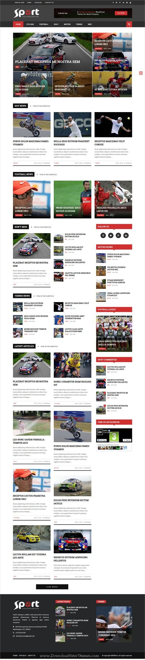 Magneto is clean and modern design responsive #WordPress theme for stunning #sports #News, #blog and #magazine website with 120+ creative homepage layouts download now..