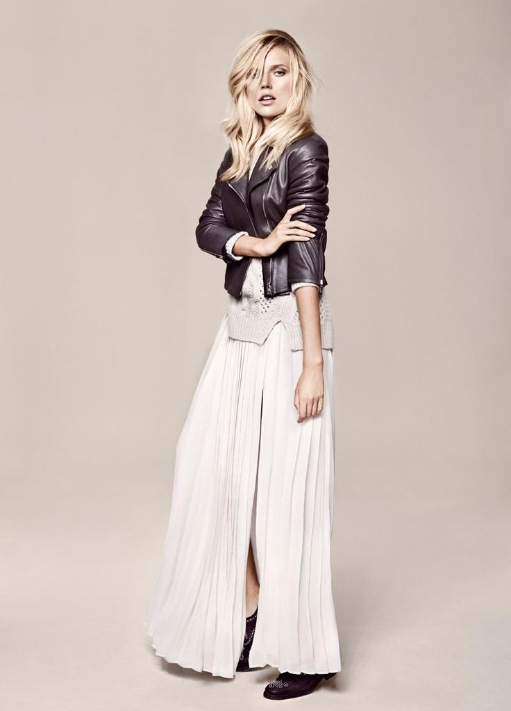 Cato Van Ee Models the Massimo Dutti NYC Studio Collection, Shot by Hunter & Gatti  --  Styling a pleated maxi