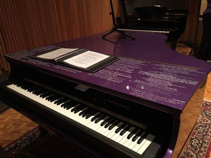 Prince - his piano from tours at Paisley Park museum.