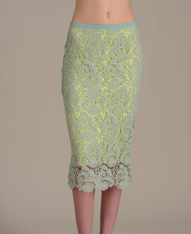Gracia Lace Pencil Skirt: Neon Pencil Skirts, Long Pencil Skirts, Style Looks, Lace Pencil Skirts, Fashion Faded, G Style, Two Fashion, Gracia Lace, Fashion Boutiques