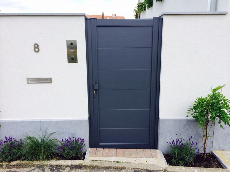 Portillon karantan en aluminium for Portillon jardin gris