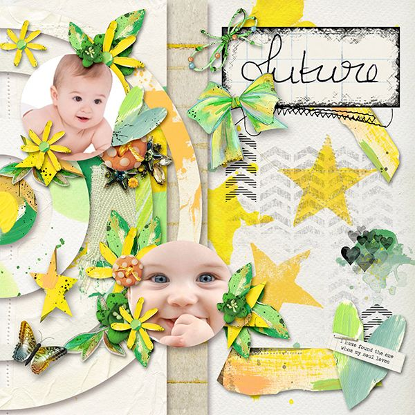 New Templates *Happy World 2* by Dafinia Designs  http://www.pixelsandartdesign.com/store/index.php… Kit: *Dear Future* by Dawn Inskip  Photo: Devianart