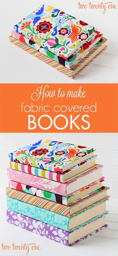 Color Canopy: DIY Tuesday: Fabric covered books