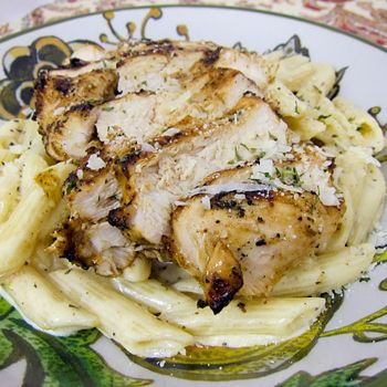 Grilled Cajun Ranch Chicken Pasta...will try with whole grain pasta!