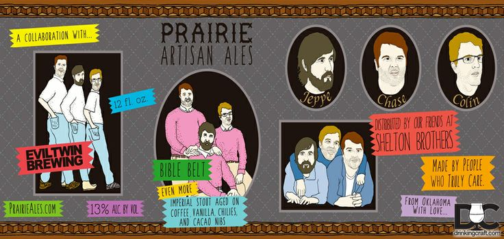 Prairie Artisan Ales has teamed up with Evil Twin Brewing to bring you Bible Belt. Bible Belt is an imperial..