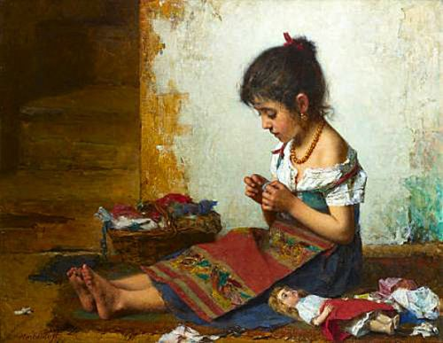 A.Harlamoff - The Little Seamstress
