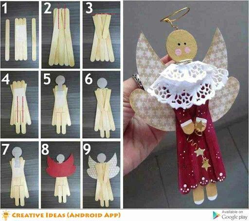 Ice cream stick doll
