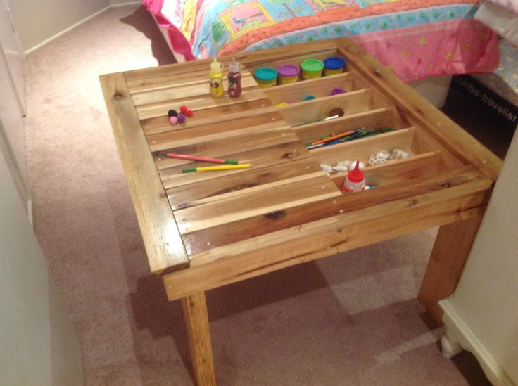 Kids Craft Table Made From Recycled Wood By Touchwood Creations Sunshine  Coast.