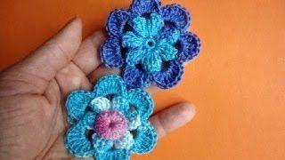Смотреть онлайн видео Вязаные цветы Урок 48 Crochet flower pattern Вязание крючком