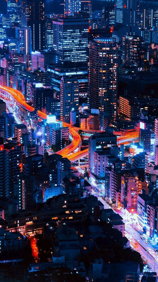 Pastel City Blue Red Night Nature Iphone 8 Wallpaper Hd Wallpaper Iphone Stunning Wallpapers Best Iphone Wallpapers
