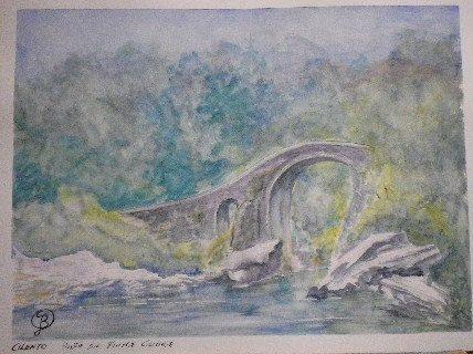 Ponte sul fiume Calore di blucianoarte su Etsy