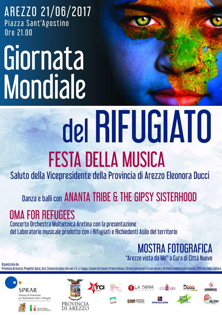 https://flic.kr/p/UH6cFX | Giornata Mondiale del Rifugiato 2017 | Giornata Mondiale del Rifugiato 2017 Festa della musica con l'Orchestra Multietnica di Arezzo  www.orchestramultietnica.net