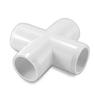 Furniture Grade 4 Way Cross 4 per Order for 3/4 Inch PVC Pipe White by David's Garden Seeds by David's Garden Seeds. $11.94. Great for furniture projects. Sturdy and long lasting furniture grade fittings with gloss finish and beveled edges. Same rating as scheduled 40 fittings--can be used for water but not labeled. Works with standard United States pipe sizes. Excellent for building greenhouse PVC frames. These fittings are for building pipe structures, furnitu...