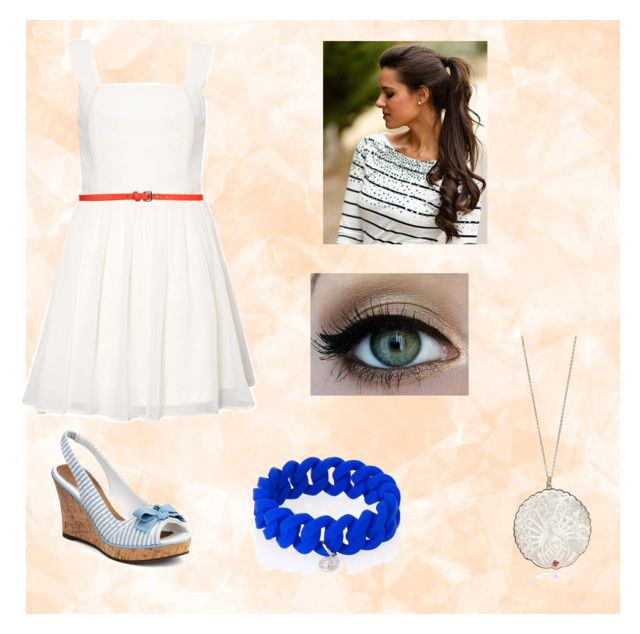 """""""Red White and Blue"""" by analisa-tapia ❤ liked on Polyvore featuring Sperry, Rare London, COSTUME NATIONAL, Marc by Marc Jacobs and NESSA"""