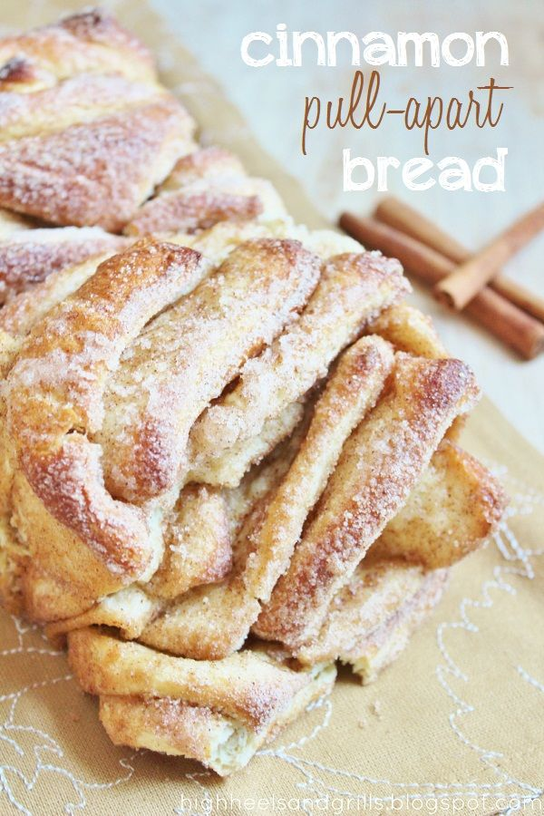 Cinnamon Pull-Apart Bread! This will seriously melt in your mouth. It tastes SO good!