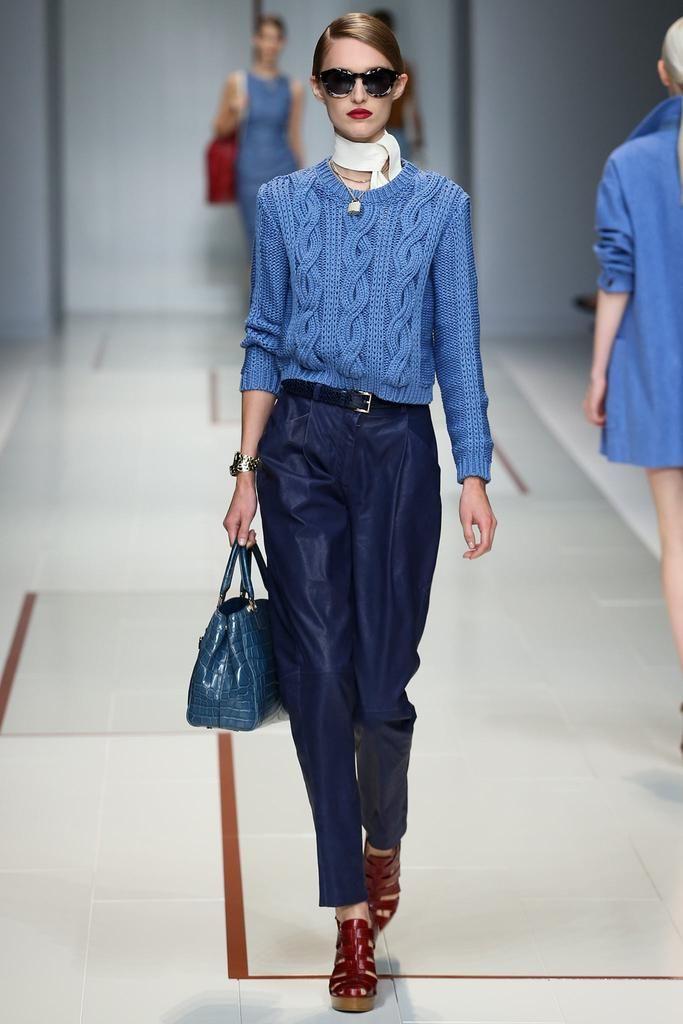 Trussardi Spring 2015 Ready-to-Wear - Collection - Gallery - Look 5 - Style.com Trussardi Model Manuela Frey (Elite) Fotos: Marcus Tondo / Indigitalimages.com