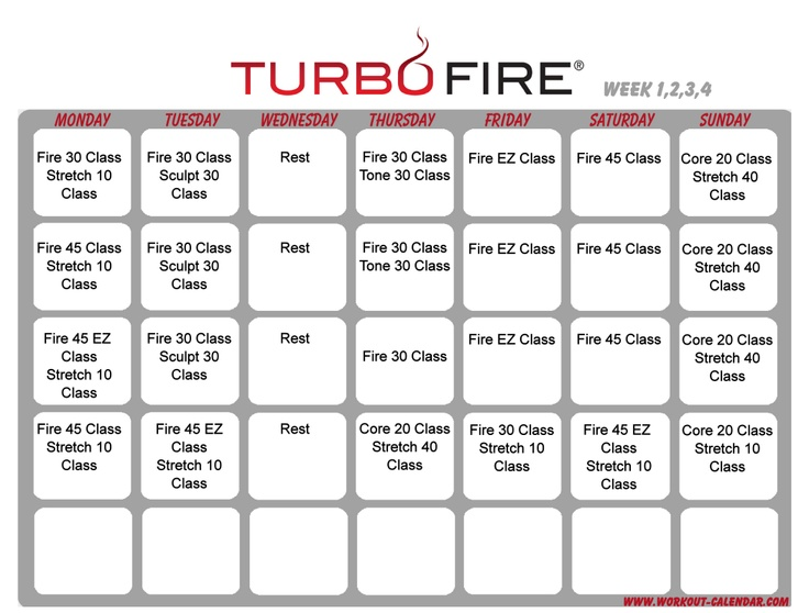 ... Workouts, Fire Workout, Fitness Inspiration, Turbo Fire, Fire Schedule