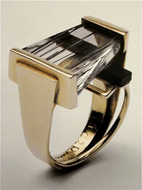 "Margaret De Patta ""Ring"" circa 1954 - Ms. De Patta was a founding member of the San Francisco Metal Arts Guild and one of the few American metalworking jewelers to present ideas evolving from the modern art movement of the time."