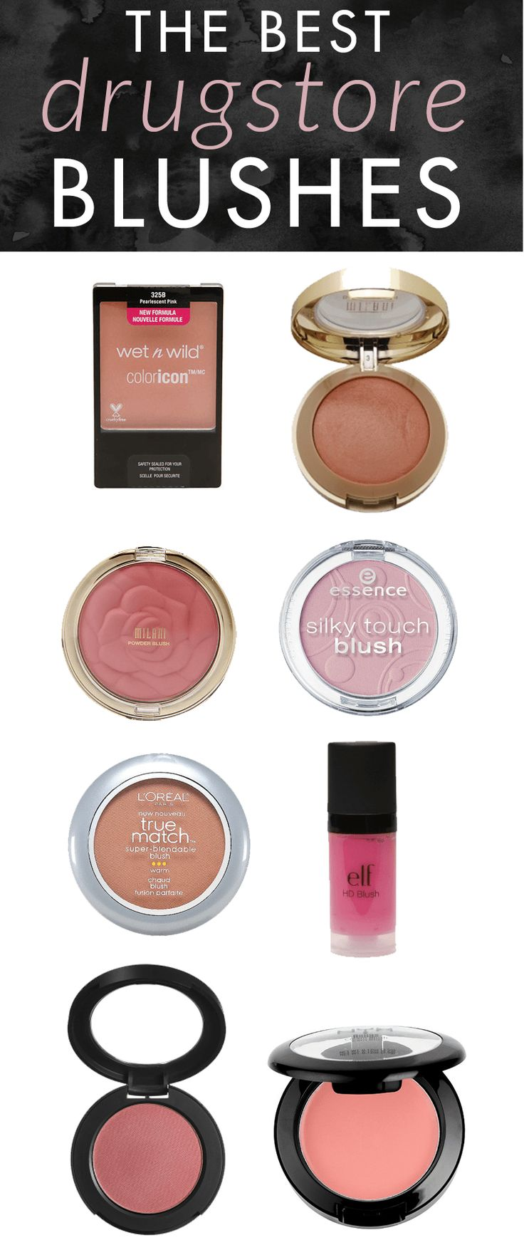 The Best Drugstore Blushes - beautiful blushes can definitely be found at the drugstore. These drugstore blushes have amazing quality and pigmentation. You'll love them! #blush #makeup #beautyblogger #shopping #drugstorebeauty #drugstoremakeup