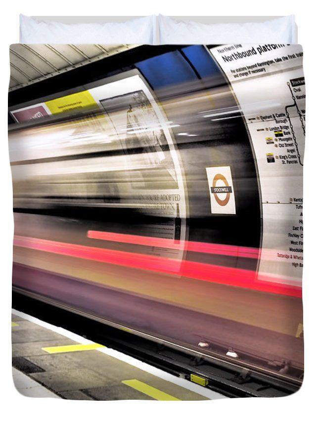 """Northbound Underground Queen (88"""" x 88"""") Duvet Cover"""