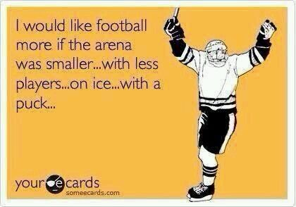 football vs. hockey