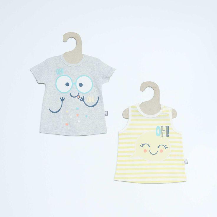 Lot de 2 tee-shirts 'Petit Béguin' Bébé garçon - Kiabi - 12,00€