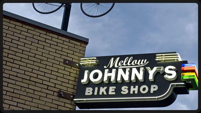 Mellow Johnny's Bike Shop: Bike Stores, Johnny Bike, Bikes, Bike Shops, Armstrong Bike, Johnny Signs, Fabulous Cups, Cups Of Coffee, Austin Bike