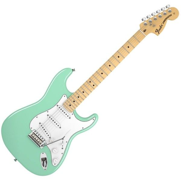 Fender American Special Stratocaster Electric Guitar Surf Green ❤ liked on Polyvore featuring fillers, music, guitar, instruments ve accessories