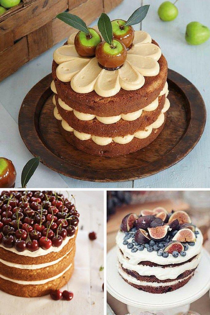 Bizcochos al desnudo con frutas y chocolate