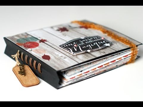Tutorial Scrap Mini Album Otoño - YouTube