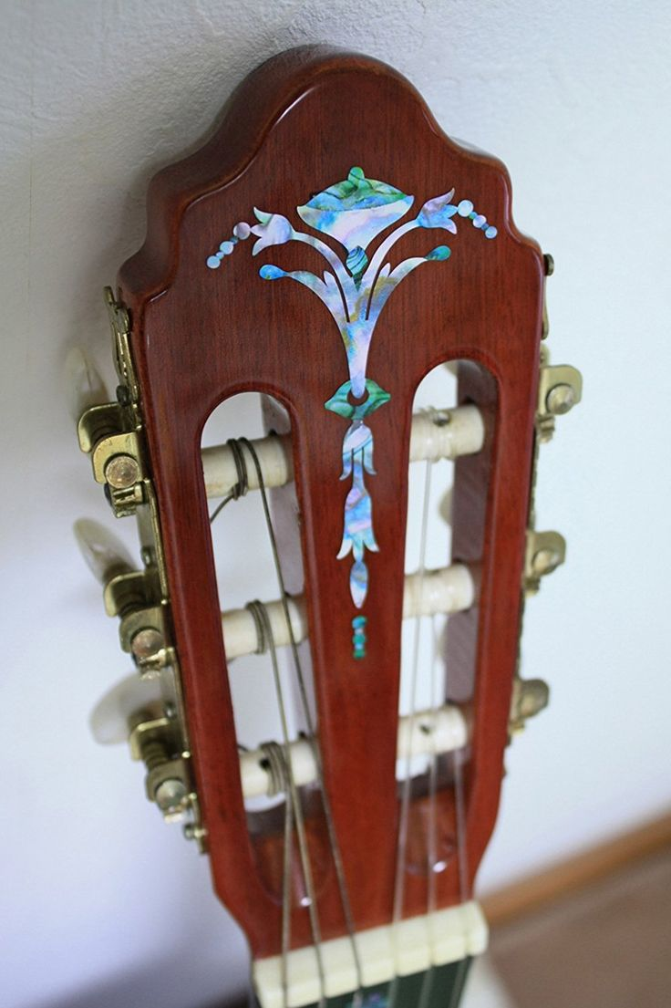 Ef572acb9a8668aadeb490b55370444f Jpg 564 851: Inlay Sticker Decal Guitar Headstock In Abalone Theme