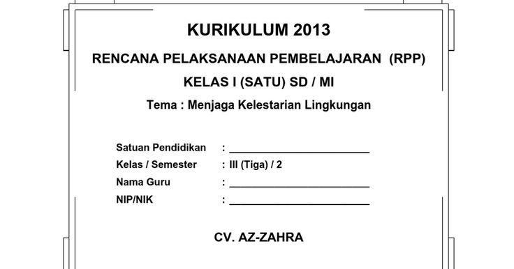 [9] RPP SD KELAS 3 SEMESTER 2 - Menjaga Kelestarian Lingkung.doc