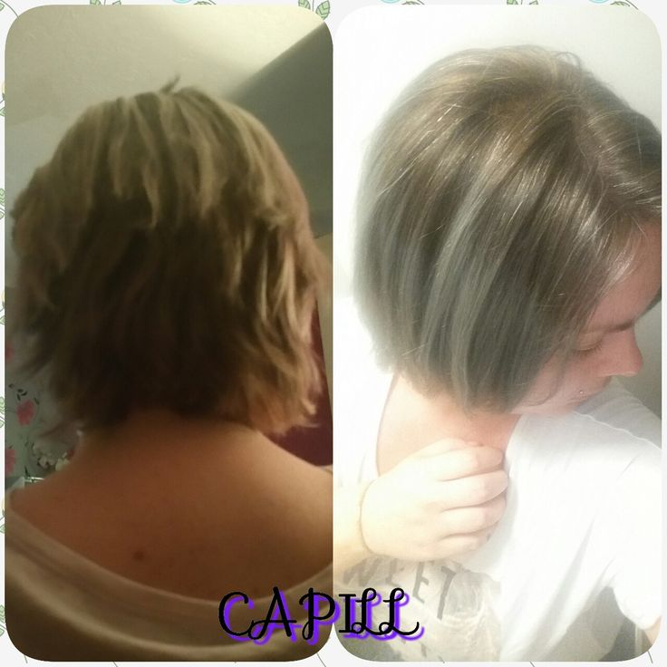The difference in my hair after a week of using Capill Products 😁😀