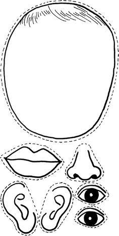 Gesicht kleben
