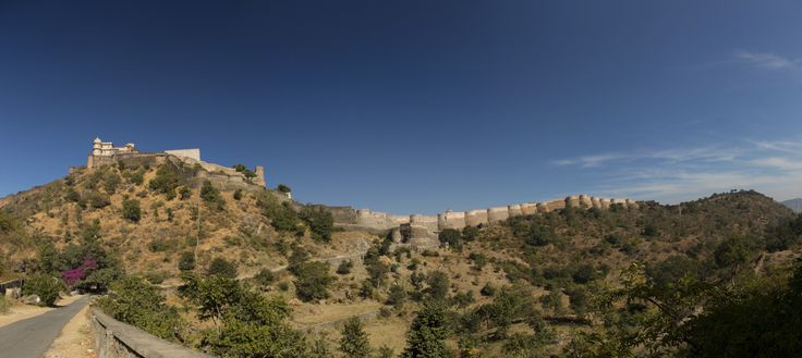 The great wall of India - Kumbhalgarh Fort. The second-longest continuous wall in the deserts of India. Built on a hilltop 1,100 m (3,600 ft) above sea level on the Aravalli range, this 36 km fort wall is avowed to be the second longest wall in the world after the Great Wall of China. It is a World Heritage Site included in Hill Forts of Rajasthan.  Photo: Lonely Planet #travel #India #Rajasthan #KumbhalgarhFort #AncientIndia #Kumbhalgarh #greatwallofIndia #secondlongestwall #explore…