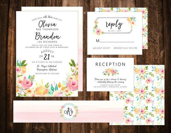 216 best Etsy Wedding Invitations Paper images on Pinterest