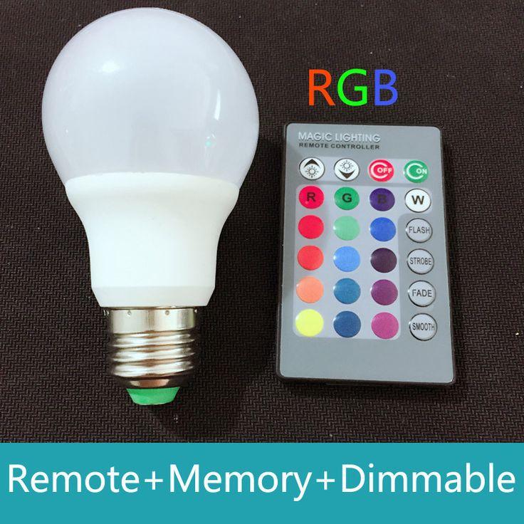 100% Real Power 3W LED RGB E27 16color changing + remote control rgb led spot light bulb AC85-265V Dimmable Lampada led 110v 220v